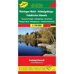 Thüringer Wald, Fichtelgebirge, Fränkische Schweiz 1:150 000 - freytag&berndt