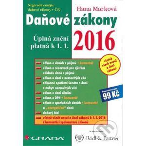 Daňové zákony 2016 - Hana Marková