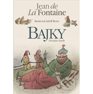 Bajky - Jean de La Fontaine, Adolf Born (ilustrátor)