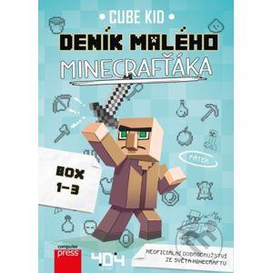 Deník malého Minecrafťáka 1-3 (BOX) - Cube Kid