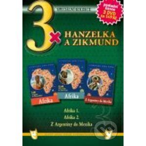 3x Hanzelka a Zikmund - Afrika I. / Afrika II. / Z Argentiny do Mexika - DVD DVD