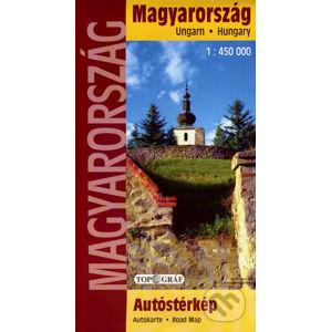 Magyarország autóstérkép 1:450 000 - Topográf