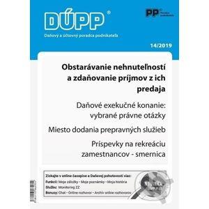 DUPP 14/2019 Obstarávanie nehnuteľností a zdaňovanie príjmov z ich predaja - Poradca podnikateľa