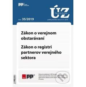 UZZ 35/2019 Zákon o verejnom obstarávaní, Zákon o registri partnerov verejného sektora - Poradca podnikateľa