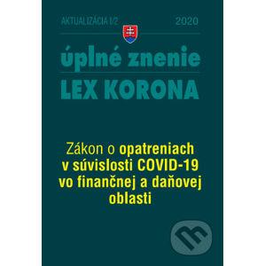 Aktualizácia I/2 - LEX-KORONA – daňová a finančná oblasť - Poradca s.r.o.