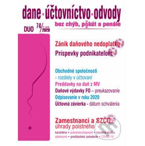 Dane, účtovníctvo, odvody 7-8/2020 - Poradca s.r.o.