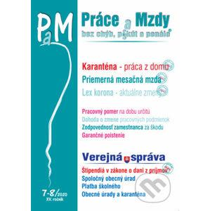 Práce a Mzdy 7-8/2020 - Práca z domu počas karantény - Poradca s.r.o.