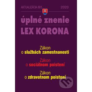Aktualizácia III/5 - LEX KORONA - Sociálne poistenie a služby zamestnanosti - Poradca s.r.o.