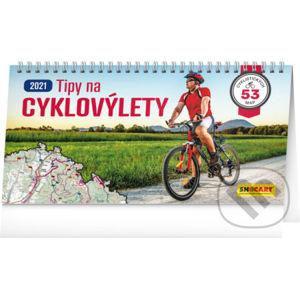 Stolní kalendář Tipy na cyklovýlety 2021 - Presco Group