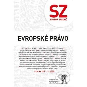 Soubor zákonů Evropské právo - Aleš Čeněk