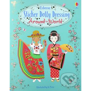 Sticker Dolly Dressing: Around the World - Emily Bone, Jo Moore (ilustrátor)