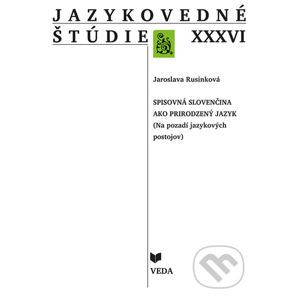 Jazykovedné štúdie XXXVI. - Jaroslava Rusinková