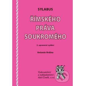 Sylabus římského práva soukromého - Antonín Hrdina